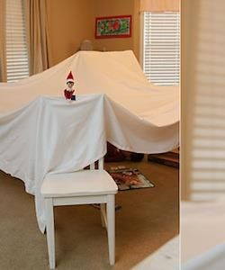 Elf build a fort over night! Great idea