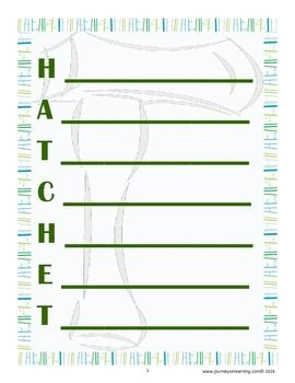 the themes and character descriptions in hatchet These graphic organizers and summary frames help students to understand how the main character changes in the book hatchet by gary paulsen which helps develop the plot and the theme in the book.