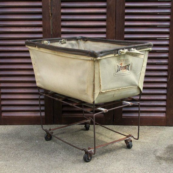 Vintage Dandux Laundry Cart Industrial Laundry Cart Dry Cleaners