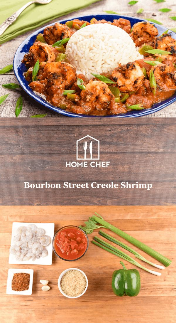 """In 1803, the United States purchased the Louisiana Territory from France. Soon after, Rue Bourbon was renamed Bourbon Street, but the French influence over food and culture remains. The Cajun seasoning on these succulent shrimp adds just the right amount of """"ooo-wee!"""" while the tomato sauce with fresh veggies is classic Creole all the way. Cook up this low-calorie beaut tonight and let the good times roll!"""
