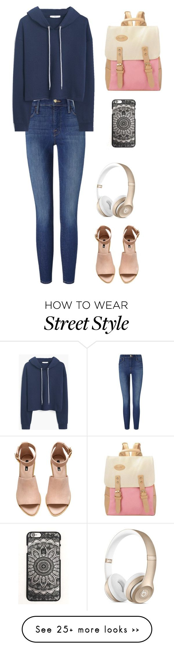 """Back to school!"" by jillianannlee on Polyvore featuring Frame Denim, MANGO and H&M"