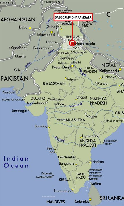India, Dharamsala Map