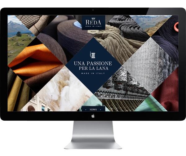 Reda Italian wool fabrics corporate website Round 2 by Tommaso Carapelli, via Behance