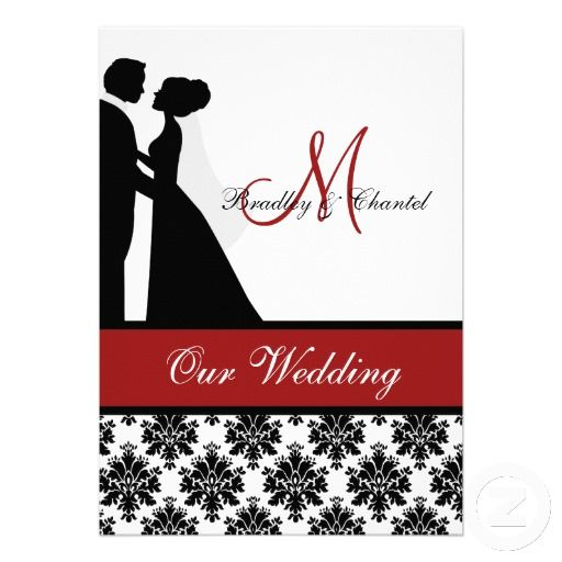 Shop Red Wedding Couple Wedding Invitation Created By Weddingsareus.