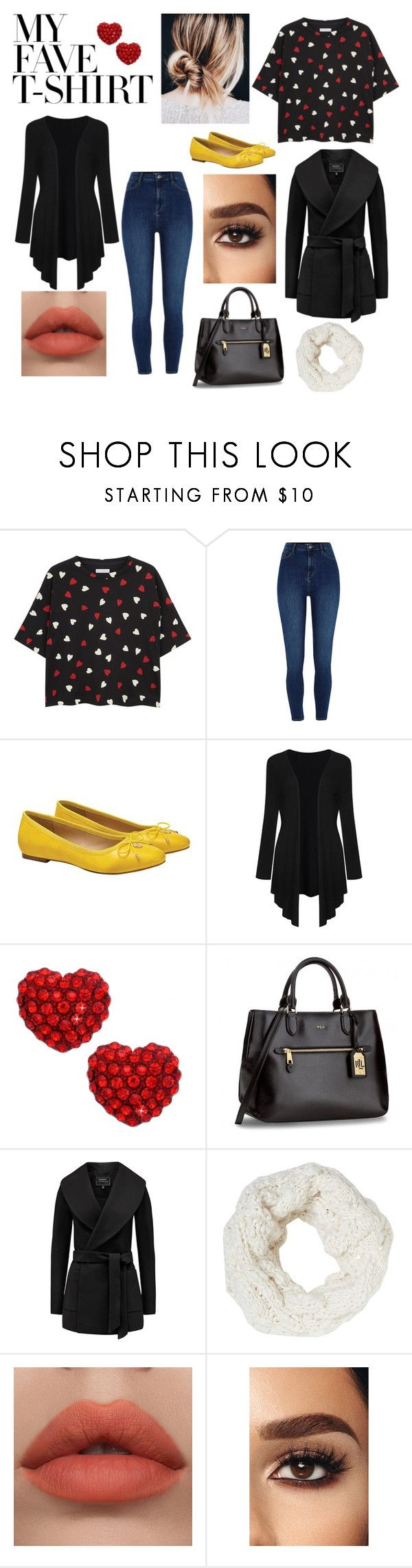 """My Fave Tshirt"" by stockton520 ❤ liked on Polyvore featuring River Island, WithChic, Betsey Johnson and MyFaveTshirt"