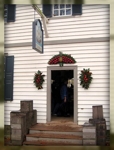 Living In Williamsburg, Virginia: Christmas Decorations at Greenhow Store, Colonial Williamsburg, Williamsburg, Virginia