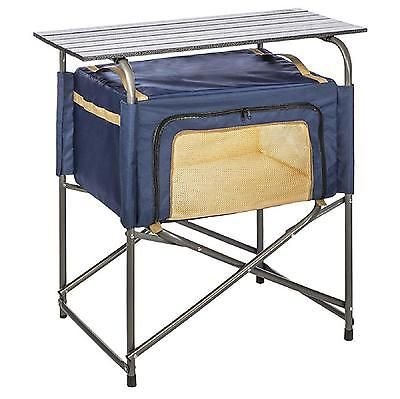 Folding Prep Table Portable Insulate Bag Kitchen Picnic Outdoor Cooking Food New