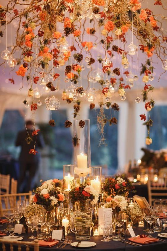 My Wedding Fall: 50+ Ideas for Stunning Vintage Wedding Decorations   – autumn