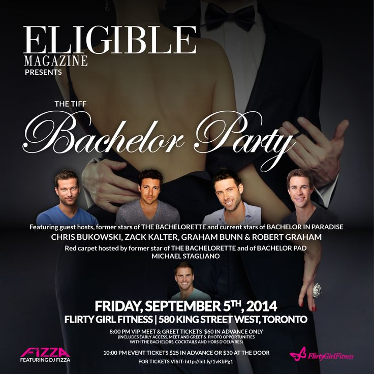 Tickets Giveaway to Eligible Magazine's Exclusive TIFF Bachelor Party: http://fashionecstasy.com/tickets-giveaway-to-eligible-magazines-exclusive-tiff-bachelor-party/