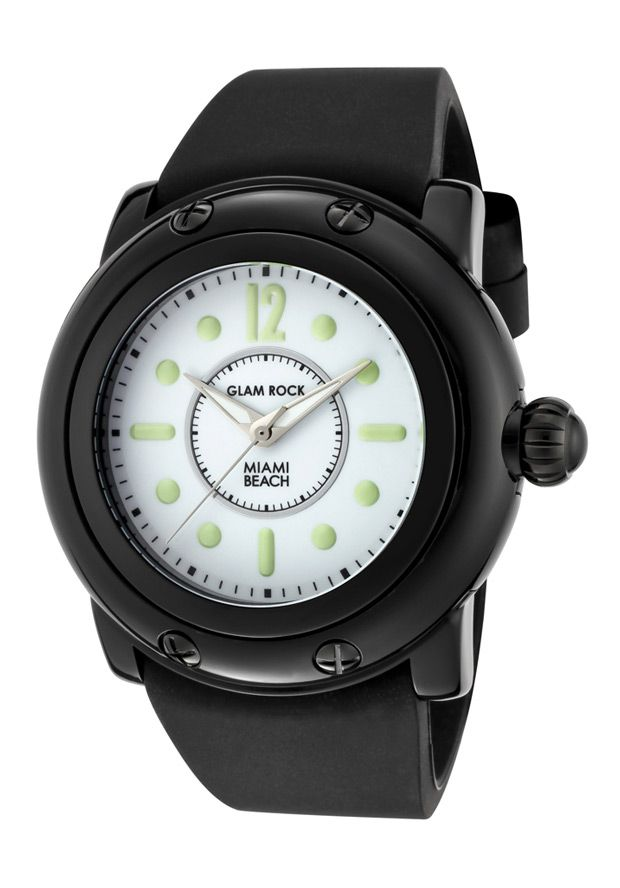 Price:$75.77 #watches Glam Rock GR25024, Add an understated look to your outfit with this unique and detailed Glam Rock watch.
