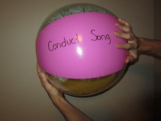 """SINGING TIME IDEA: Primary Singing Time: """"Catch The Beach Ball"""""""