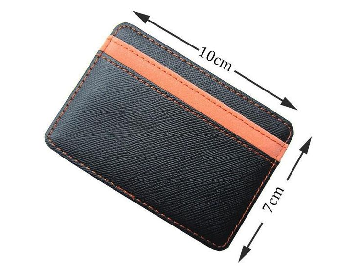 Men's Wallets Leather Magic Card Holder Money Clip