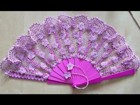Tutorial Abanico Antonia crochet paso a paso Handmade crochet fan - YouTube