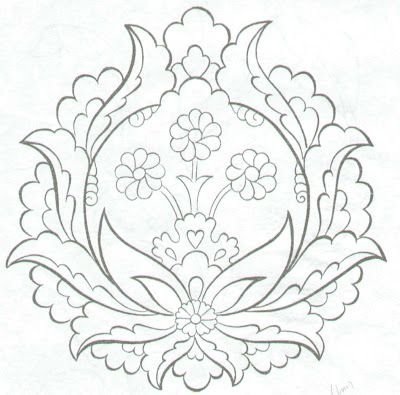 lovely motif for embroidery