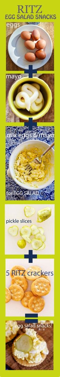 Egg Salad Snacks made with | Ritz Fresh Stacks Crackers