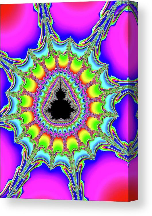 Colorful Mandelbrot Fractal Art, Canvas Print for sale. Spiral green, pink and purple. Canvas Print for sale. Click through and get inspired! Art for your Home Decor and Interior Design by Matthias Hauser.