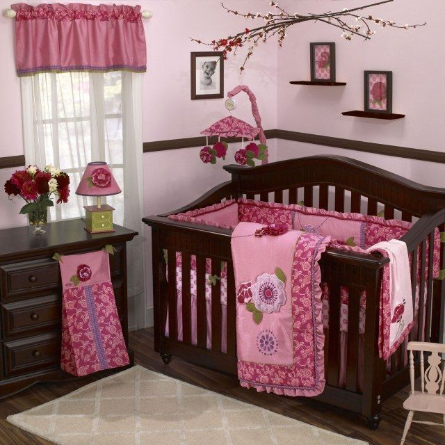 Baby girl room ideas with a striking pink decor throughout the nursery steps to make beautiful baby girl room ideas