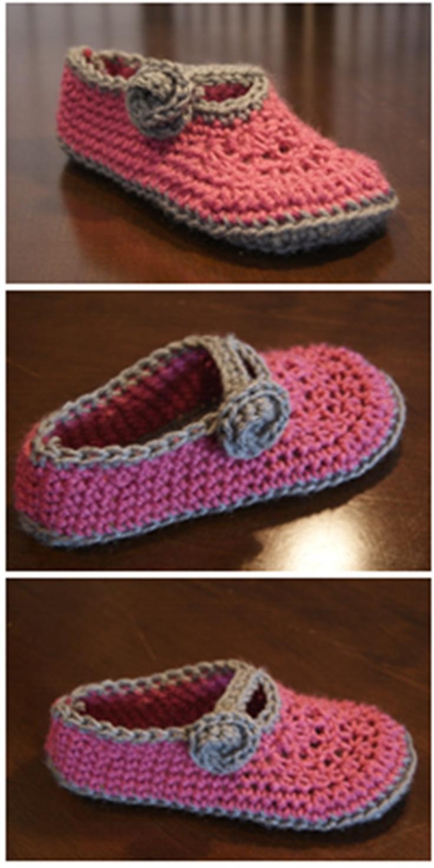 Crochet pattern- Adult Slippers