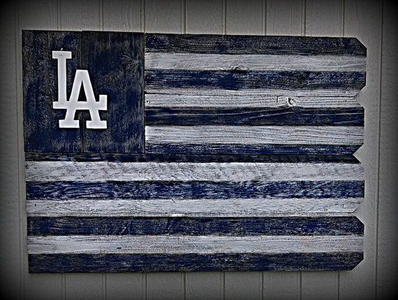 Los Angeles Dodgers Outdoor Wooden Sign