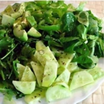 Ensalada de verduras para una buena salud