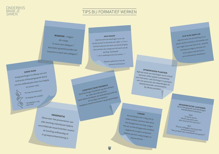 Poster: Tips bij formatief werken