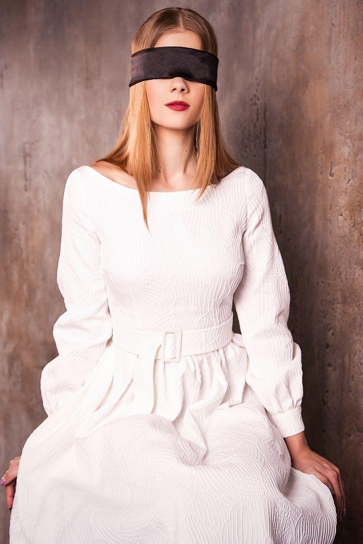 Белое платье в винтажном стиле из натуральной ткани с уникальным орнаментом. #fashion #платье #мода