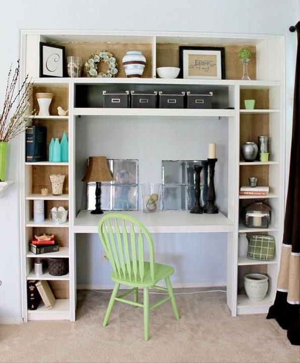 Love this idea since I don't have a spare room for an office!