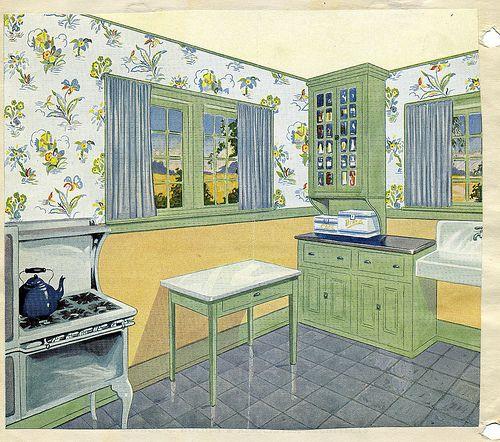 Vintage 1920 kitchen by American Vintage Home, via Flickr
