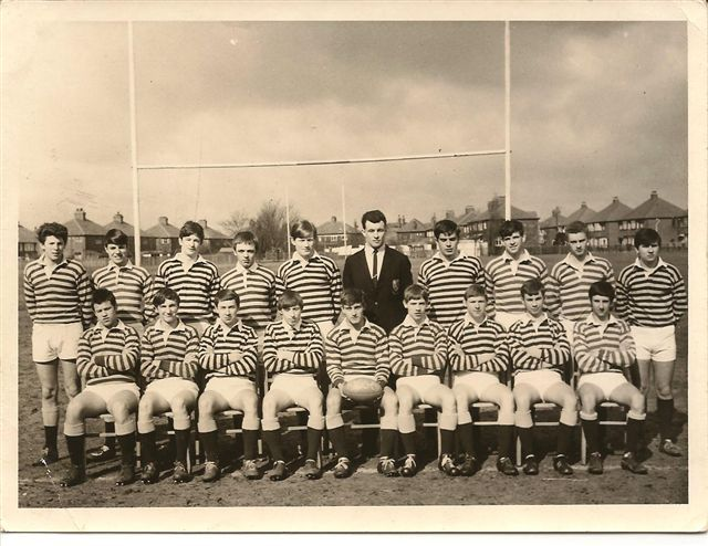Grange Park First XV 1966-67 Back Row Roger Pilkington, Dave Dooley, Bill Harrison, Alan Scully, Graham Phair, JON MANTLE, Bill Lawrenson, David Watkinson, Trevor Halsall, Phil Walsh Front Row Ste Cotton, Mick Guest, John Consideine, Mick Robson, Tony Twist, ?, ?, Mick Collins, Lievesley