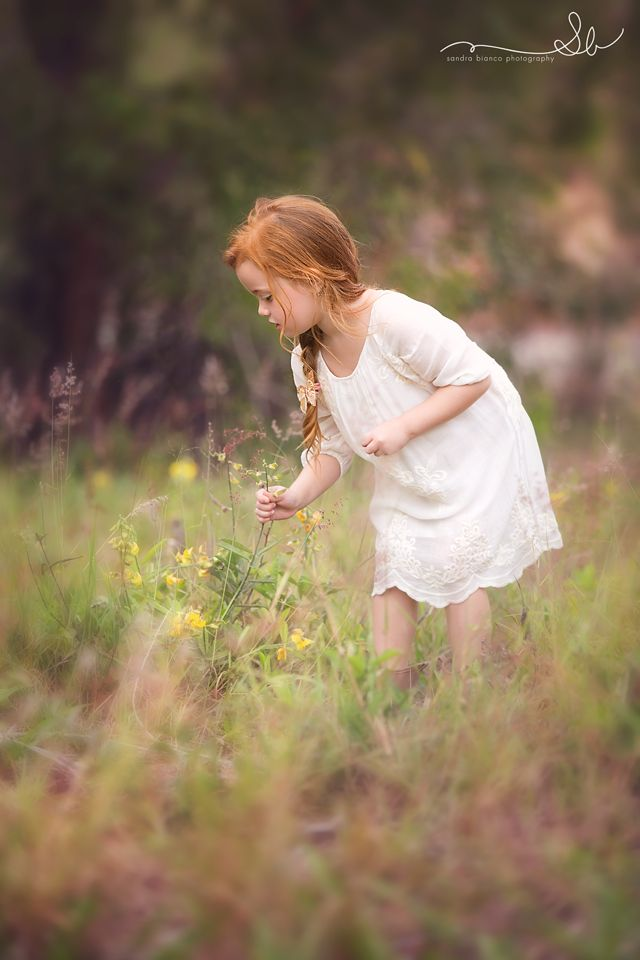 Awwww!!! Picking Wildflowers ~ Sandra Bianco
