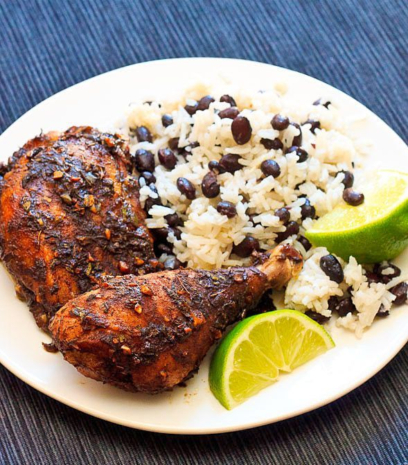 This Jamaican Jerk Chicken with Coconut Rice and Beans dish is full of robust flavor and warm spices. The preparation is easy with just a few simple steps and a few hours of marinating.