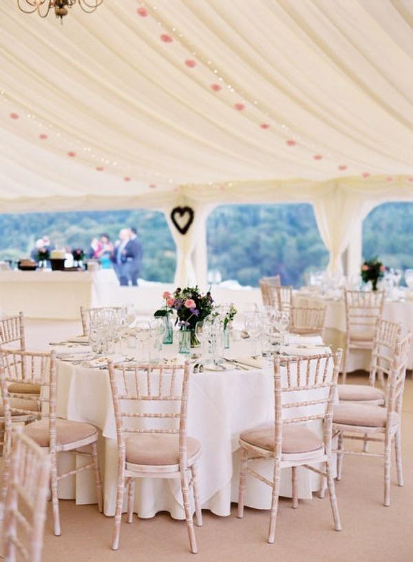 Simple, Romantic, Elegant Design for a Marquee Interior {theweddinghunter}