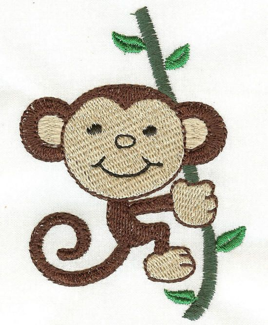 Monkey Filled Stitch | Embroidery And Sewing | Pinterest | See Best Ideas About Free Machine ...