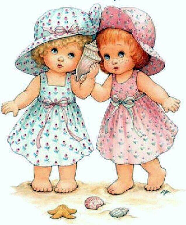 Поздравлениями, открытка девочки двойняшки