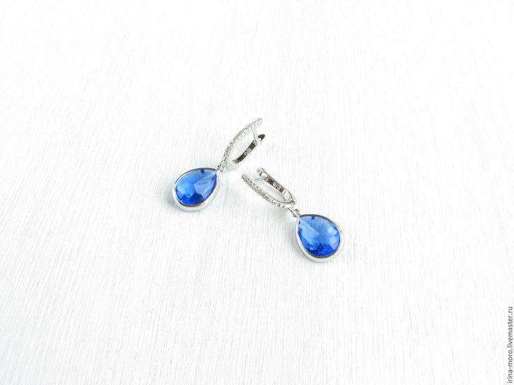 "Купить Серьги ""Ультрамарин""серьги подвески,яркие серьги,бижутерия серьги 2017 - серьги подвески. Beautiful earrings ""Ultramarine"" bright blue cubic Zirconia and jewelry the glass. Bright blue earrings are made in trendy colors of the season spring-summer 2017 lapis blue.  #earring #jewelry #blueearrings #silverearrings #dangleearrings #longearrings #tasselearrings #oscarstyle #oscarearrings #luxuryjewelry #fashionjewelry #statementearrings #etsy #handmade #серьги #bridalearrings…"