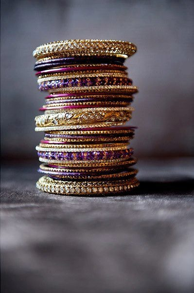 gold and purple bagles  ❤❤♥For More You Can Follow On Insta @love_ushi OR Pinterest @ANAM SIDDIQUI ♥❤❤