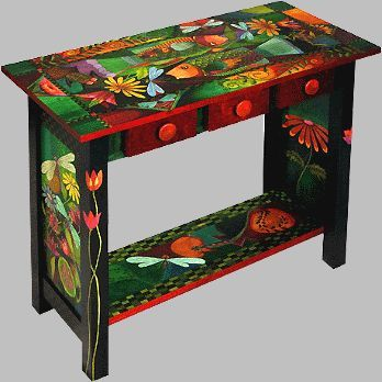 Funky+Hand+Painted+Furniture | Funky Hand Painted Furniture | ... Folk Art, Whimsical Primitives ...