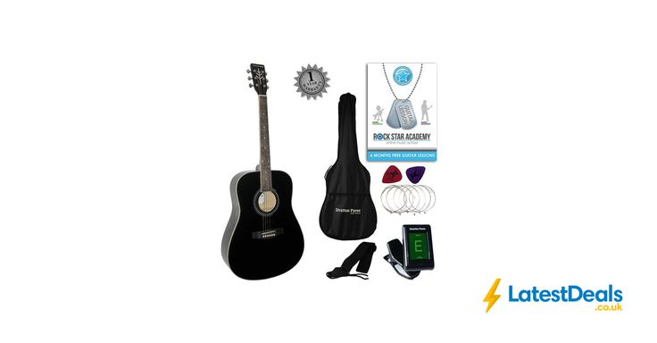 Stretton Payne Dreadnought Full Sized Steel String Acoustic Guitar Bundle, £79.99 at Amazon UK