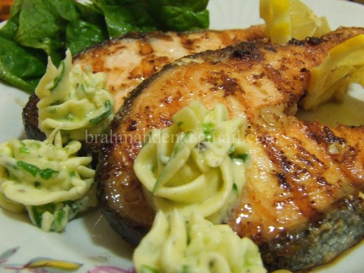 лосось с цитрусовым соусом