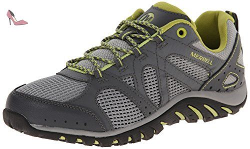 Merrell - Rockbit Cove - Chaussure - Aquatique - Homme - Gris (Castle Rock)/Vert (Green Oasis) - 49 EU - Chaussures merrell (*Partner-Link)