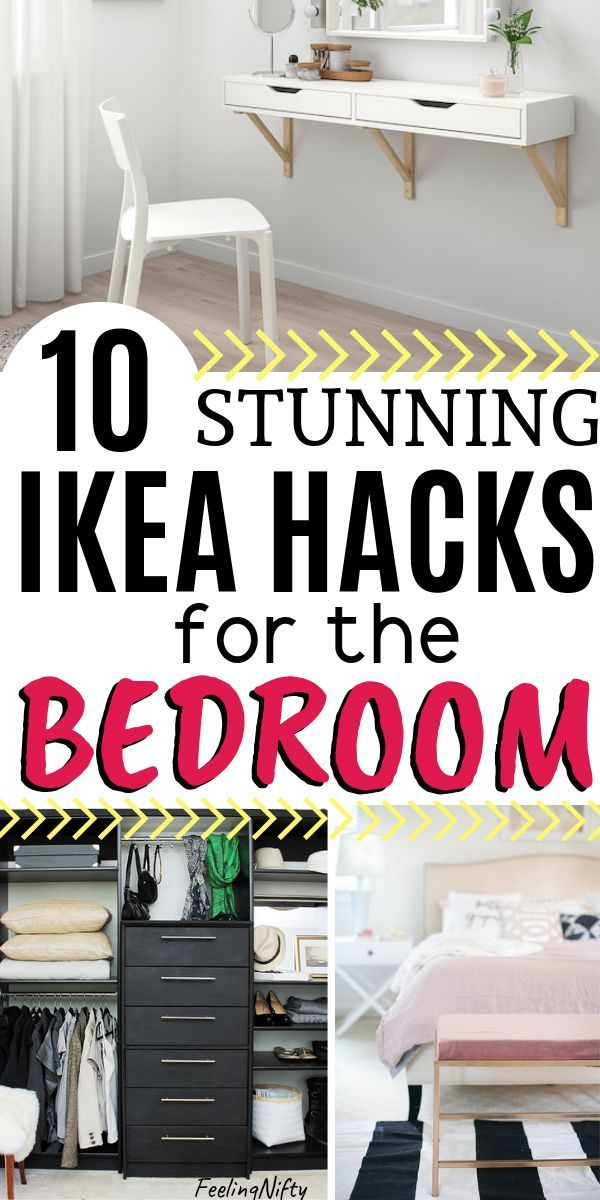 11 Brilliant Ikea Hacks That Will Take Your Bedroom To The Next Level Master Storage Ideas Small Space
