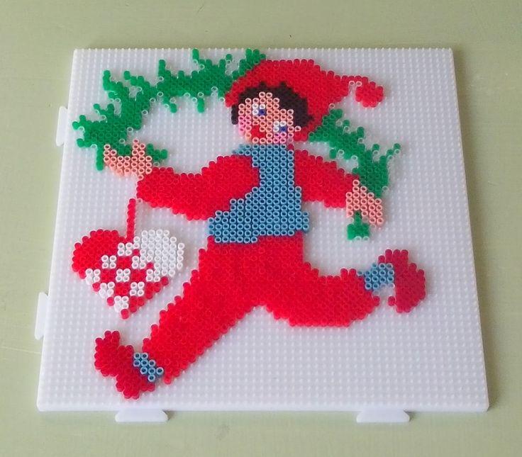 Nisse Christmas hama beads by Randi Frederiksen