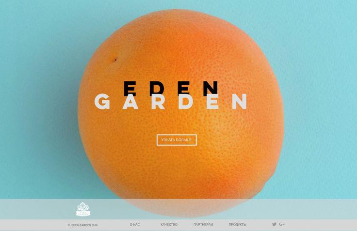 """Сайт компании """"Eden Garden"""" - дизайн сайта. Design site Eden garden"""