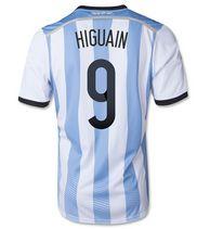 Argentina national team 2014 #9 HIGUAIN HOME SOCCER JERSEY [1405271552]