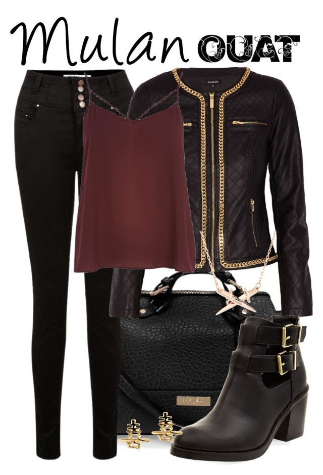 Mulan (OUAT) by alitadepollo on Polyvore featuring polyvore, fashion, style, River Island, Morgan, Carvela Kurt Geiger and Wildfox