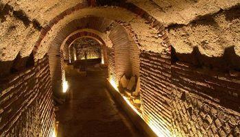Naples, Italy - underground Excavations of a Greek-Roman theater