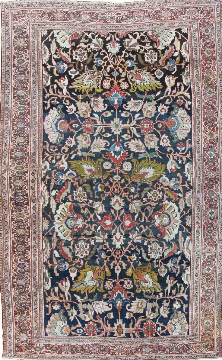 "Persian rug, 19'6"" x 11'9"", Circa 1890, Farnham Antique Carpets"