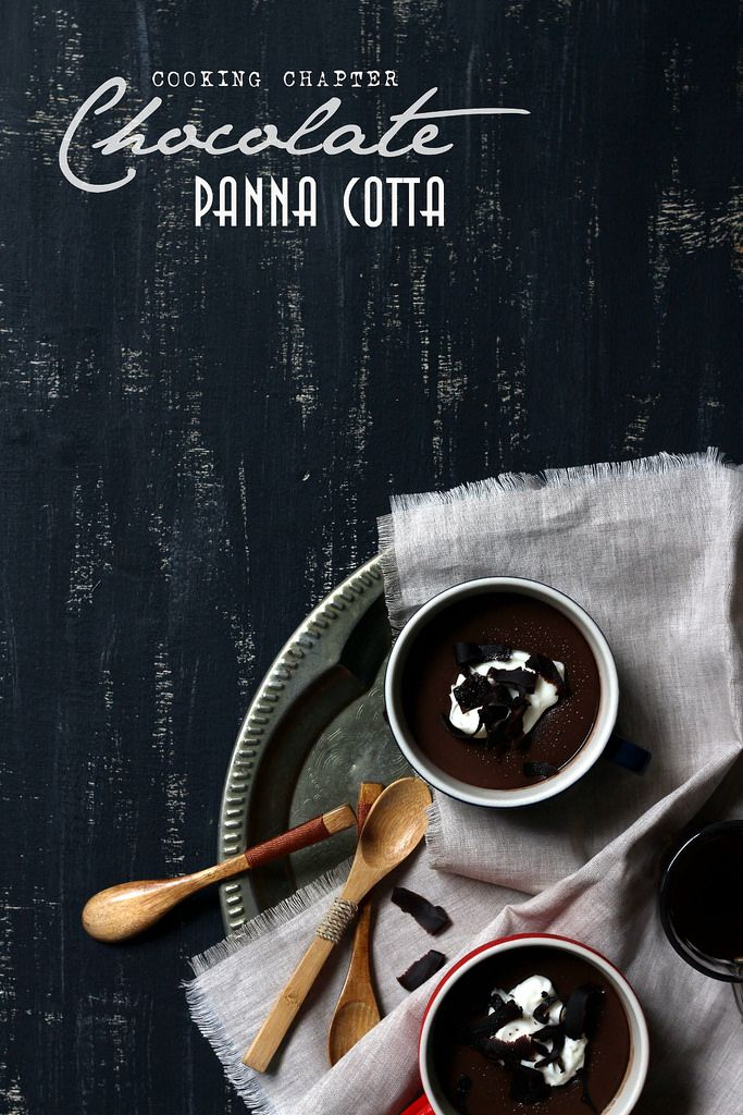 Melt in your mouth : Chocolate panna cotta