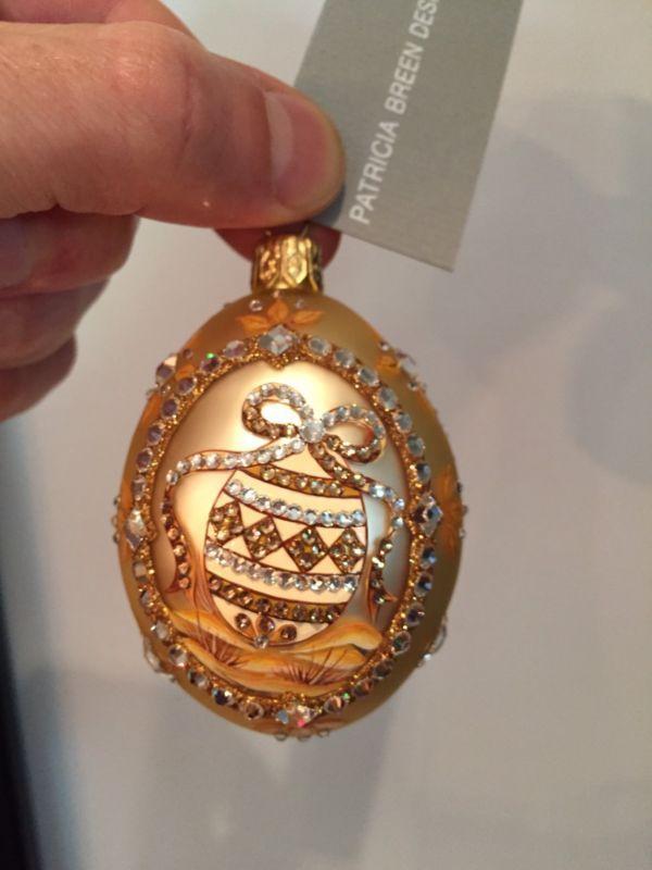 Patricia Breen Medium Egg Beribboned Gold Neiman Marcus Online Exclusive Easter