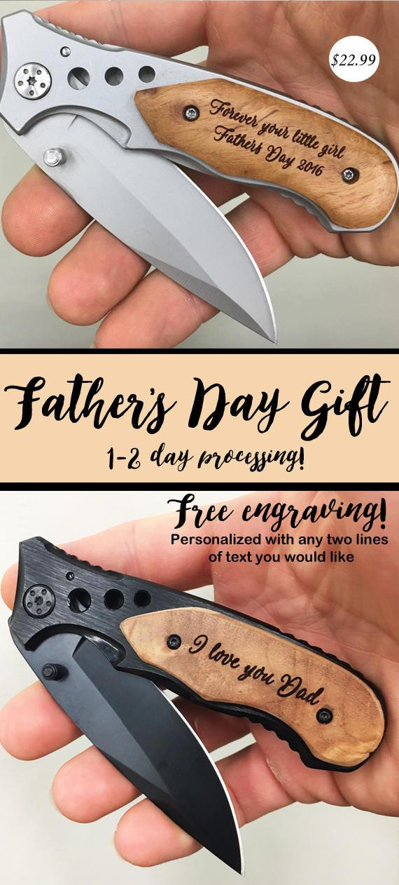 Fathers Day Gift For Dad, First Father's Day Gift, Engraved Pocket Knife with Birthdays of Children, Gift from Wife, Daughter, Son